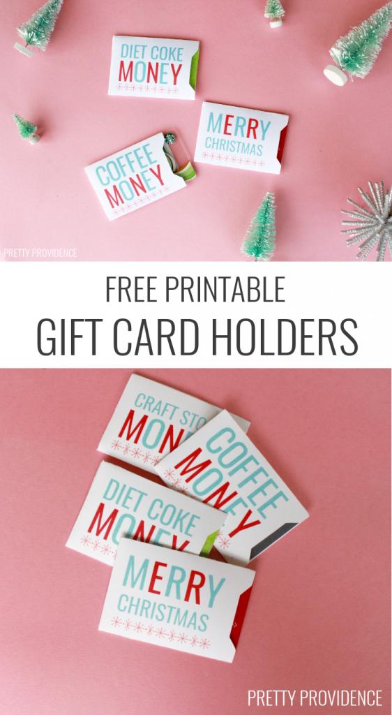 Christmas Gift Card Holders - Free Printable | Holidays | Christmas | Free Printable Personal Cards
