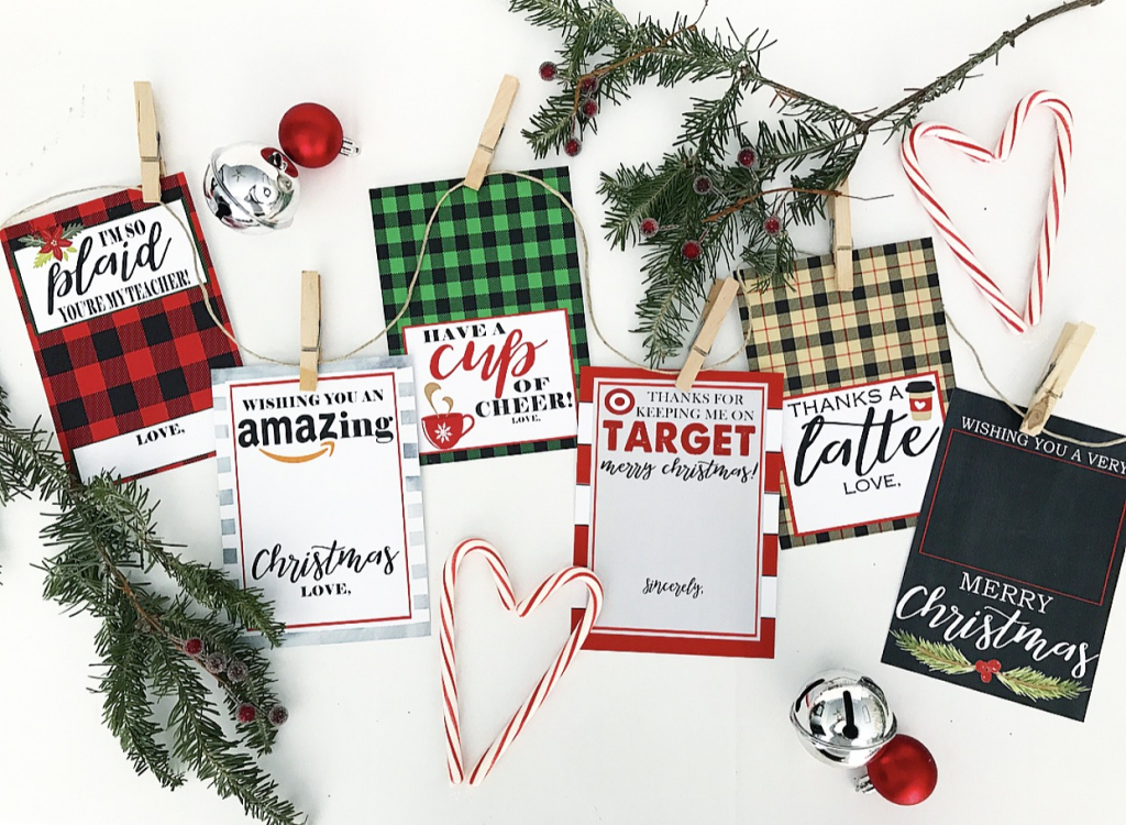 Christmas Gift Card Holer Free Printables - Crisp Collective   Christmas Cards For Loved Ones Printables