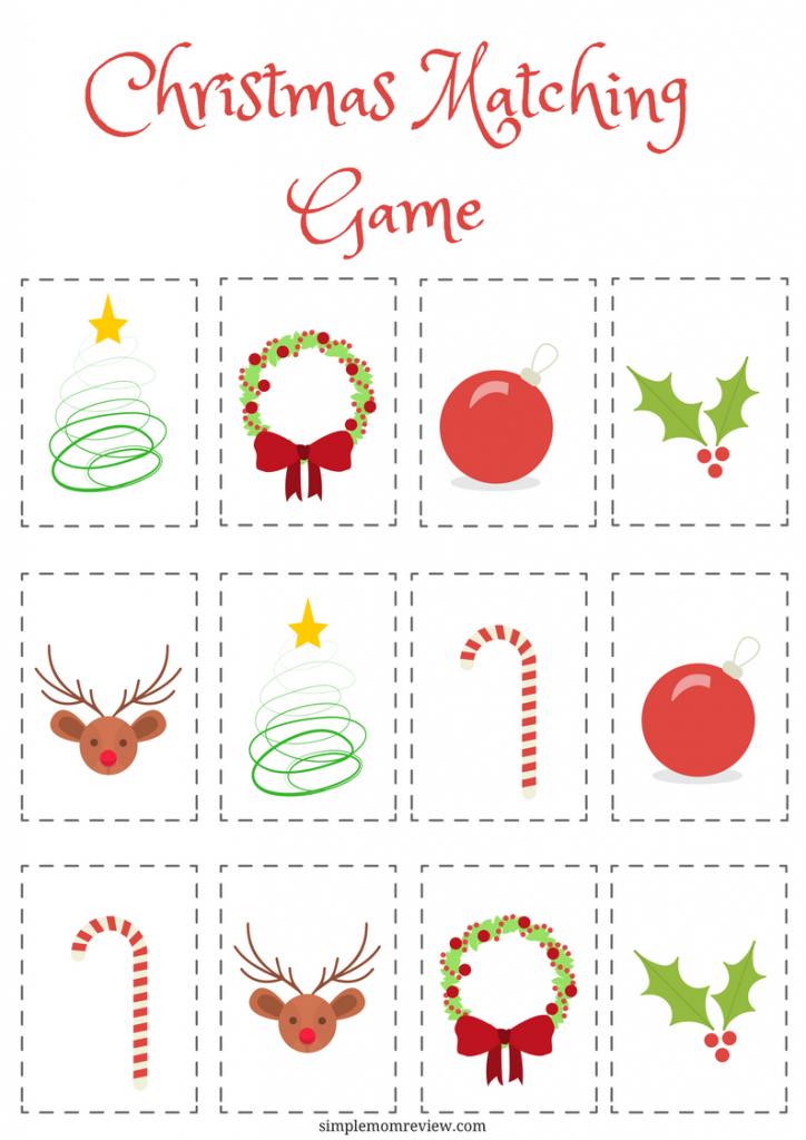 Christmas Matching Game: Free Printable | Free Printables | Matching | Free Printable Matching Cards