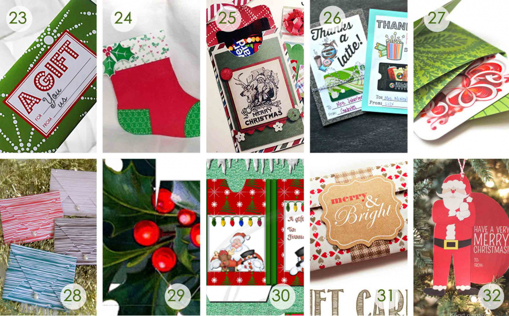 Christmas Money Wallets Free Printable – Halloween & Holidays Wizard | Free Printable Christmas Money Holder Cards
