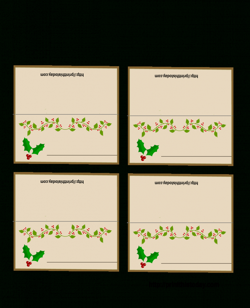 Christmas Name Card Template - Kleo.bergdorfbib.co   Free Printable Place Card Templates Christmas