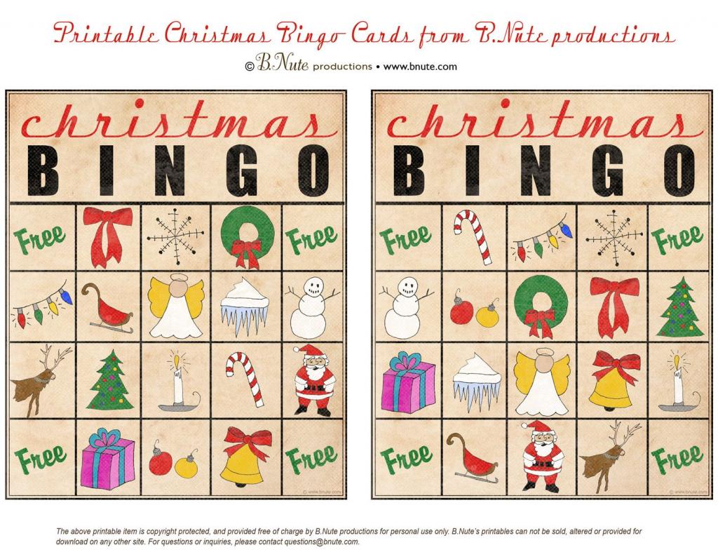 Christmas Printables Images | Free Printable Christmas Bingo Cards | Free Printable Christmas Bingo Cards