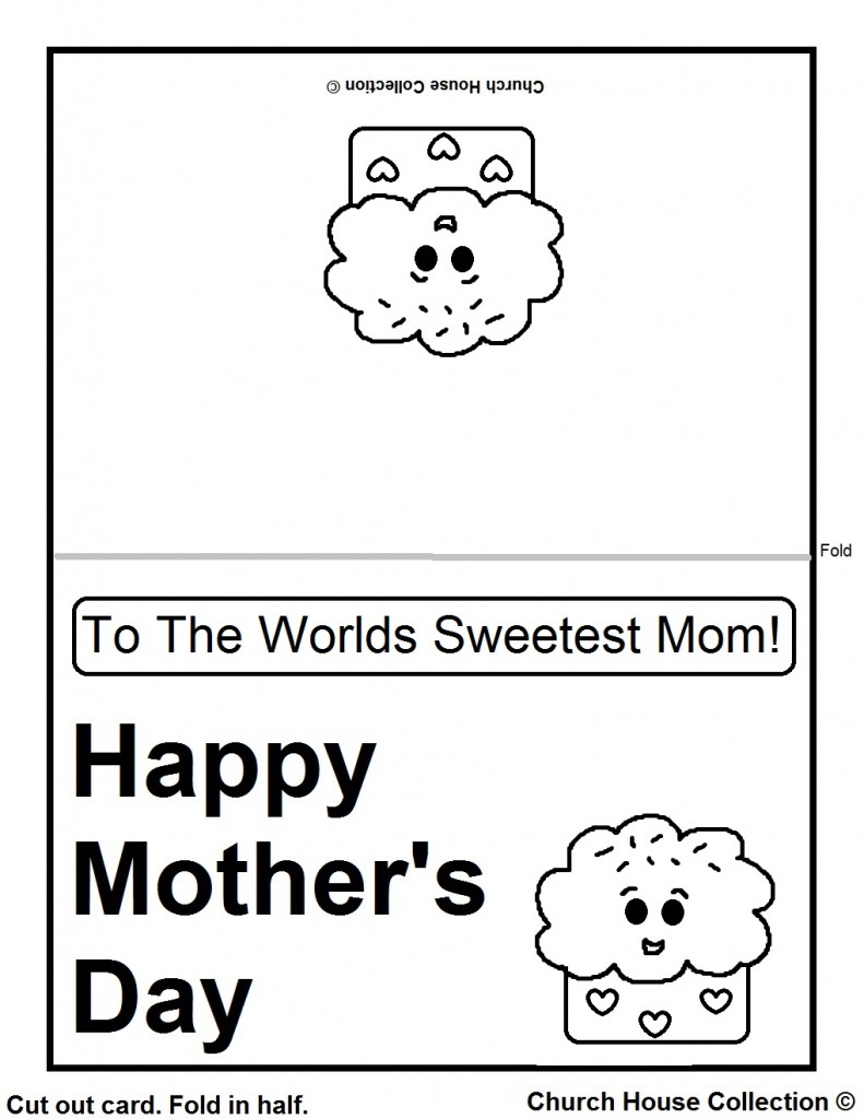 Church House Collection Blog: Printable Mother's Day Cards For Kids   Printable Mothers Day Cards For Kids To Color