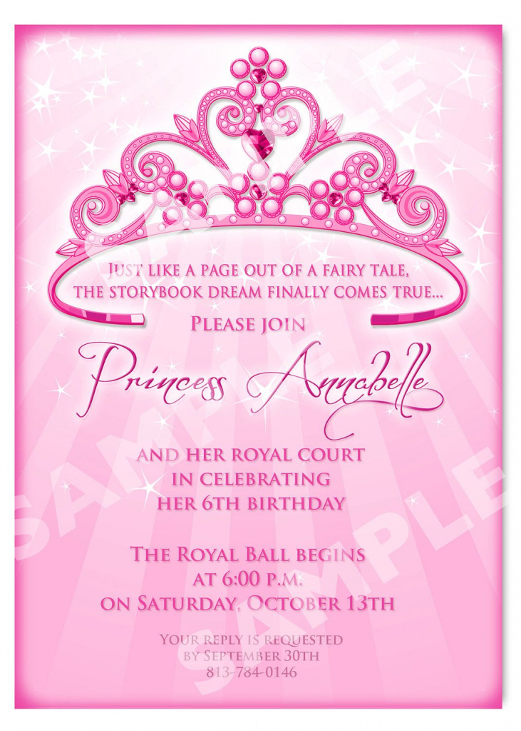 Click On The Free Printable Princess Party Invitation Template To | Free Printable Princess Invitation Cards