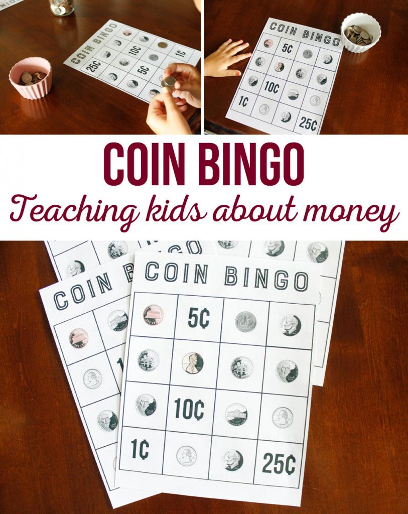 Coin Bingo Free Printable - The Crafting Chicks | Money Bingo Printable Cards