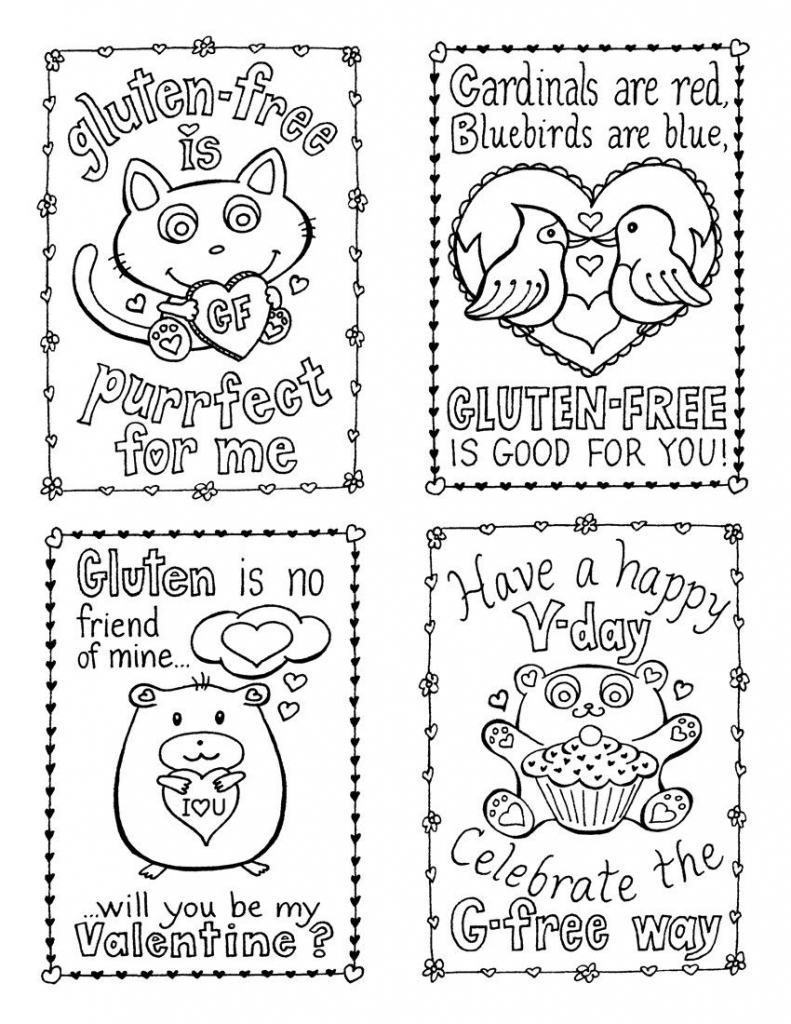 Coloring Page ~ Coloring Page Valentines Day Cards Pages Template   Printable Valentines Day Cards To Color