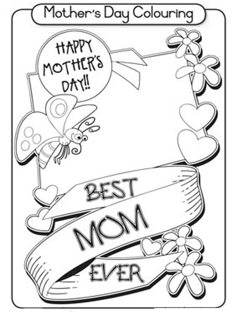 Coloring Page ~ Free Printable Mothers Day Colorings Cards Mothers | Free Printable Mothers Day Coloring Cards