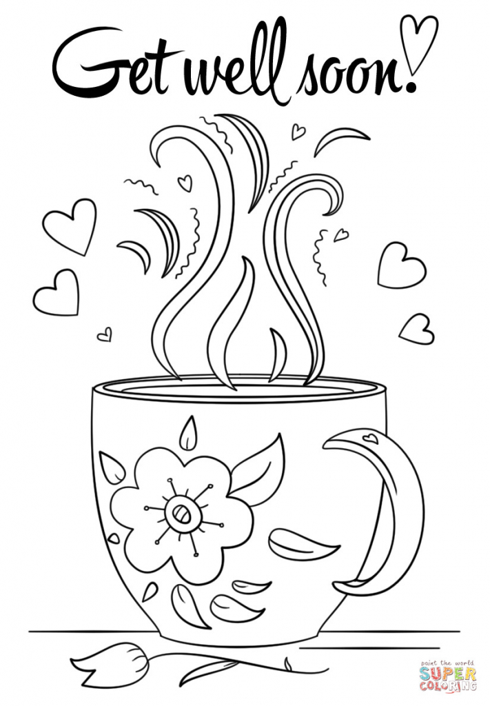 Coloring Pages ~ Fantastic Get Wellon Printable Coloring Pages Cards | Free Printable Get Well Soon Cards