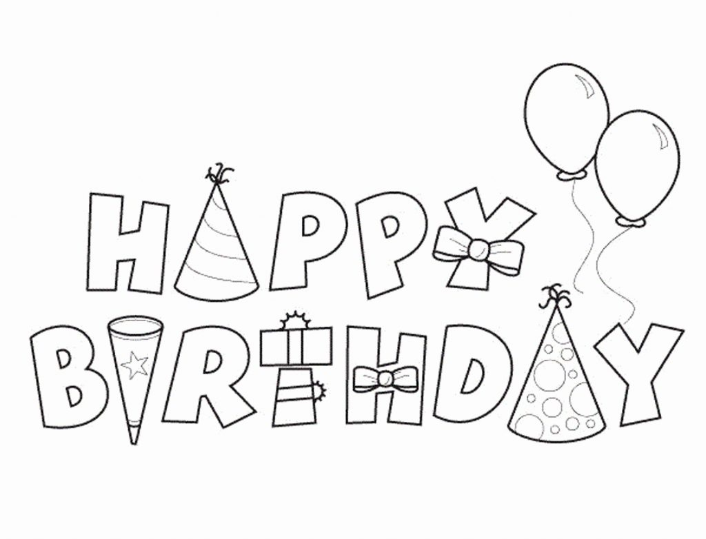 Coloring Pages ~ Free Coloring Birthday Cards Astonishing Card Black   Printable Coloring Birthday Cards