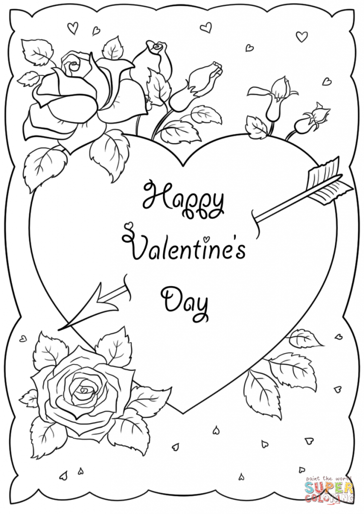 Coloring Pages ~ St Valentines Day Card Coloring Page Pages Happy   Printable Valentines Day Cards To Color