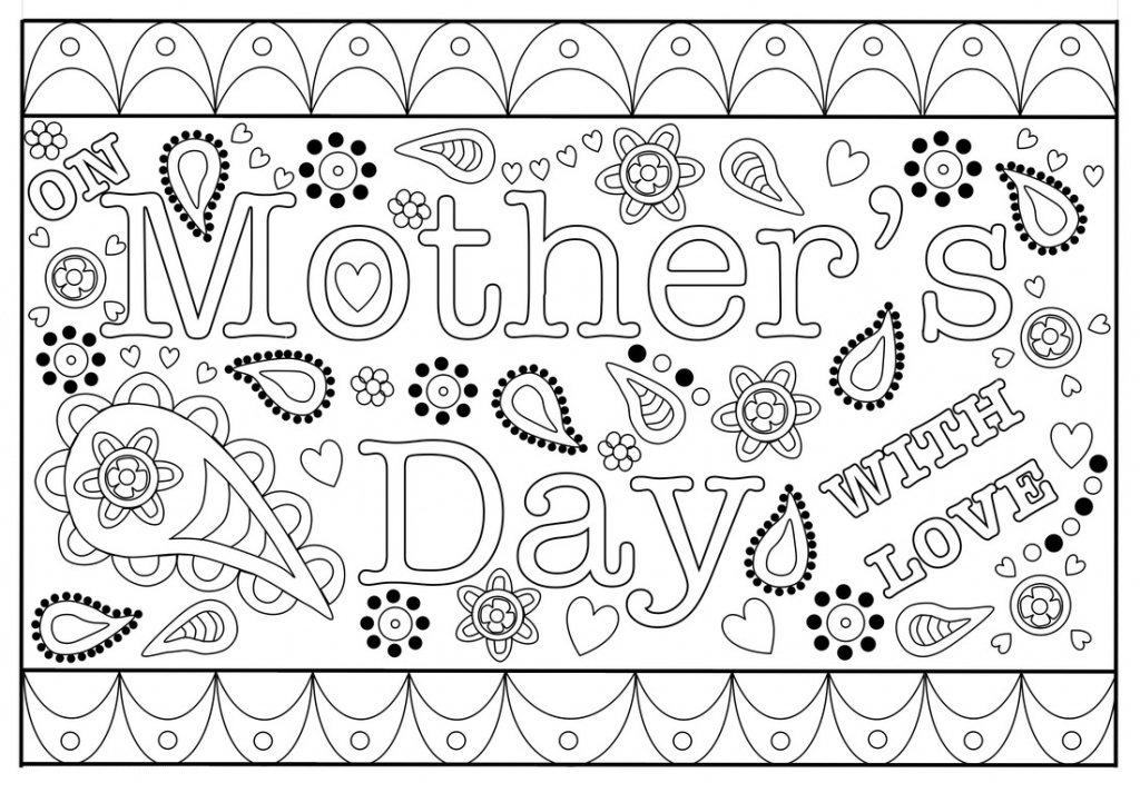 Colouring Mothers Day Card Free Printable Template | Printable Mothers Day Cards To Color
