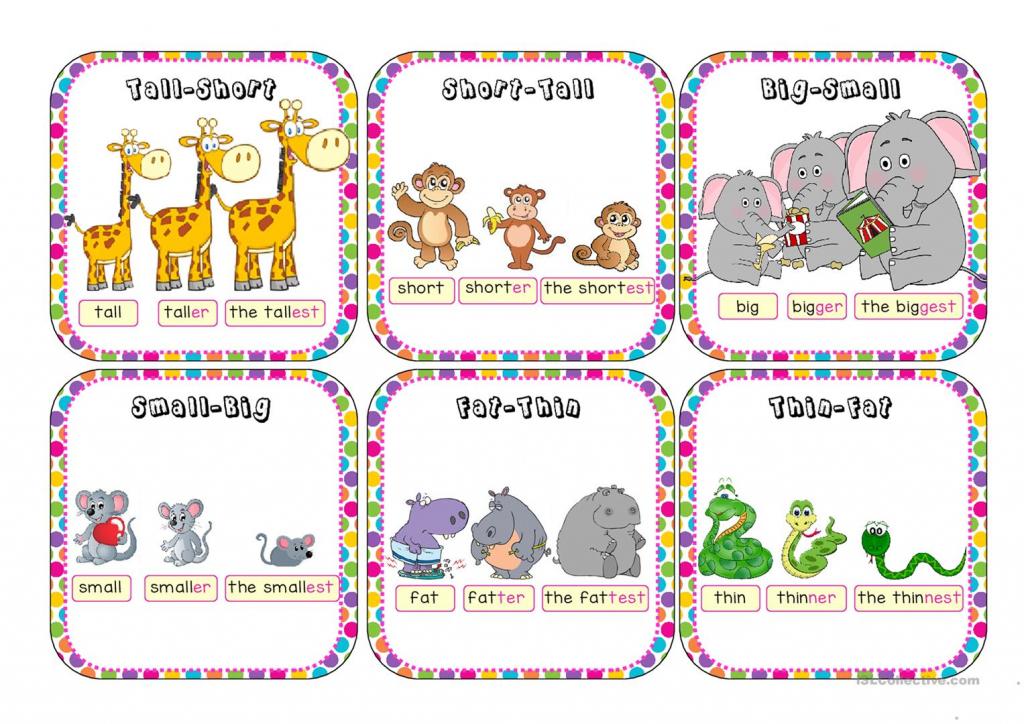 Comparatives And Superlatives Go Fish Worksheet - Free Esl Printable   Printable Go Fish Cards