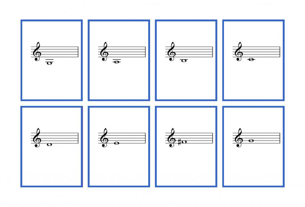 Complete Set Violin Flash Cards – Printable   Denley Music   Piano Music Notes Flash Cards Printable