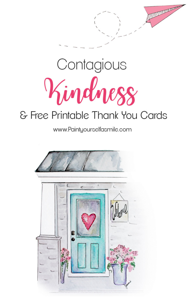 Contagious Kindness Tags & Free Printable Thank You Cards - Paint | Cute Printable Thank You Cards