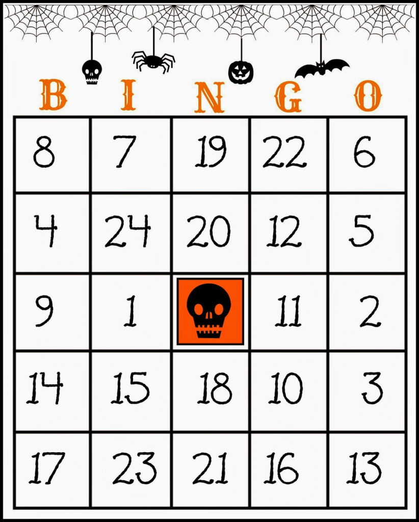 Crafty In Crosby: Free Printable Halloween Bingo Game | Bingo Cards Printables For Numbers