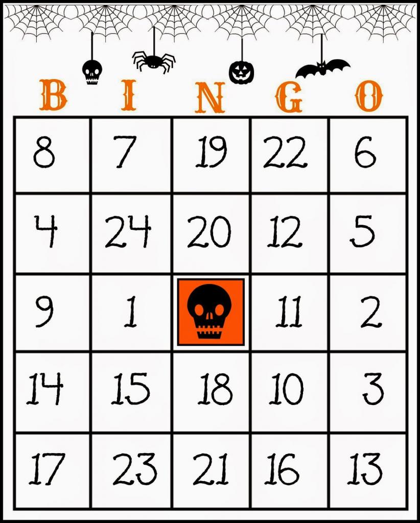 Crafty In Crosby: Free Printable Halloween Bingo Game | Printable Bingo Cards 1 20