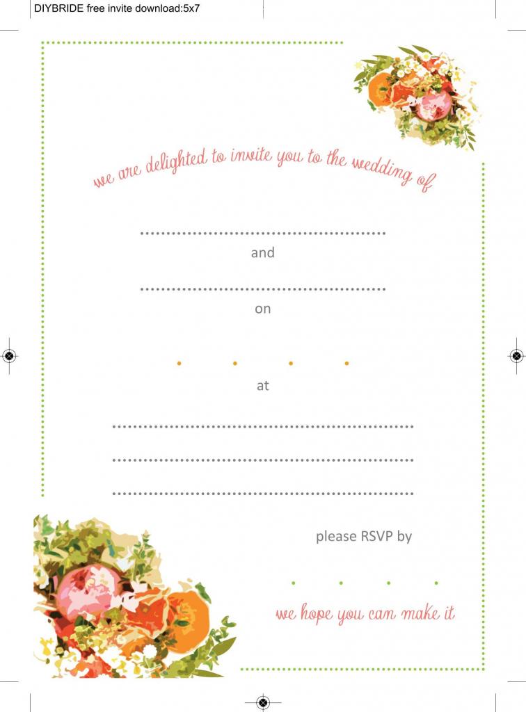 Create Wedding Invitation Template Printable | Invitations Card | Wedding Invitation Cards Printable Free