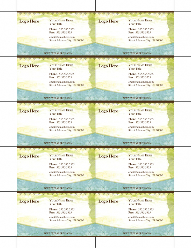Create Your Own Business Cards Free Templates Unique Free Printable   Free Printable Business Card Templates For Teachers