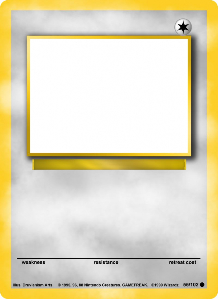 Create Your Own Pokemon Card App I Made And Released To The Itunes   Blank Pokemon Card Printable
