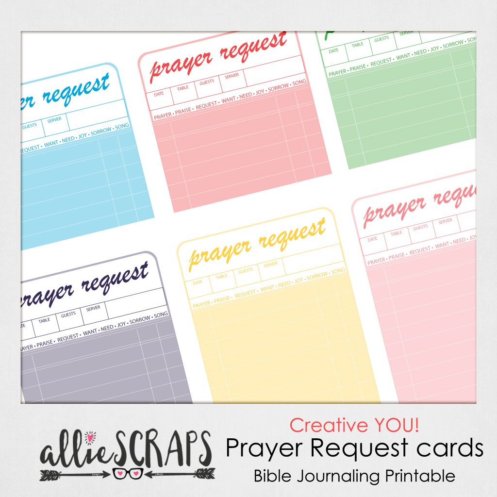Creative You   Prayer Request Cards Printable   Printable Prayer Request Cards