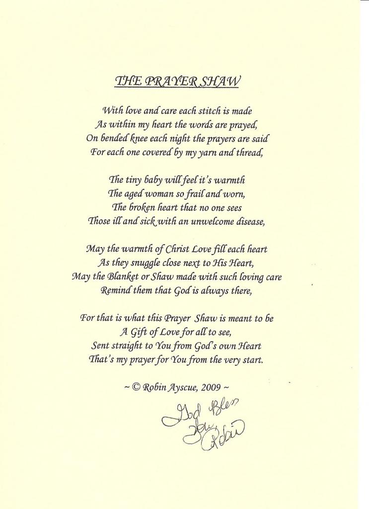 Crochet Prayer Cloth Poem Card - Google Search   Prayer Shawl   Printable Prayer Shawl Cards