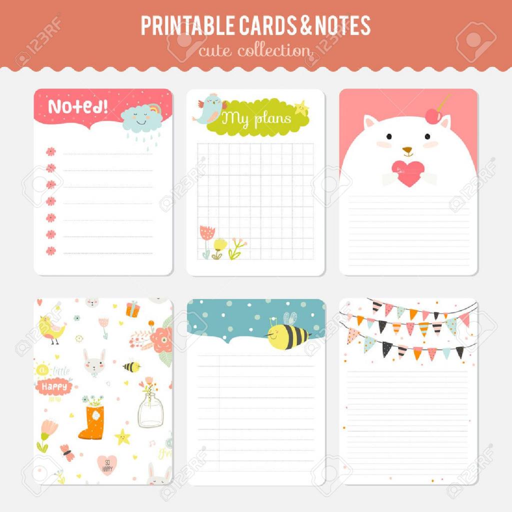 Cute Note Template - Under.bergdorfbib.co | Cute Note Cards Printable