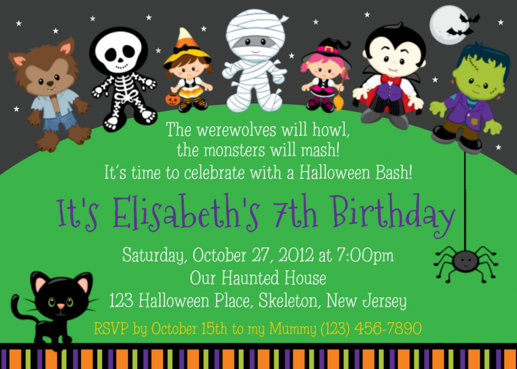Cute Printable Halloween Invitations – Festival Collections | Cute Printable Halloween Cards