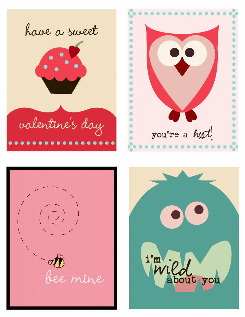 Cute Set Of Valentine's Day Cards To Print   Printables   Printable   Free Valentine Printable Cards For Husband