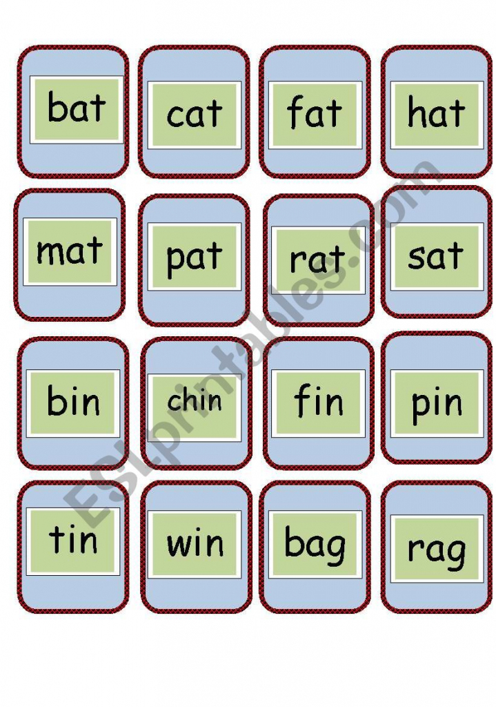 Cvc And Rhyming Words Flashcards - Esl Worksheetcarme Sammut   Free Printable Rhyming Words Flash Cards