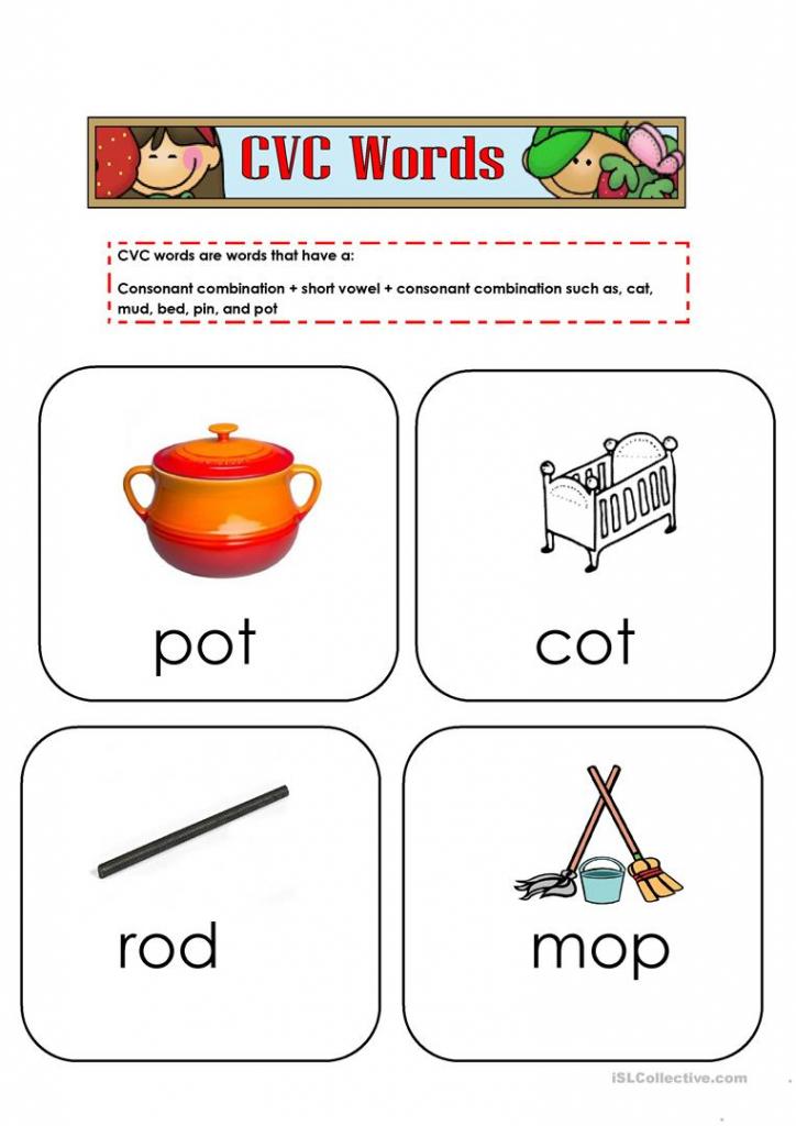 Cvc Words Flashcards 2 Worksheet - Free Esl Printable Worksheets | Printable Cvc Word Cards