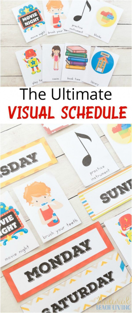 Daily Visual Schedule For Kids Free Printable   Kids Crafts And   Free Printable Picture Schedule Cards