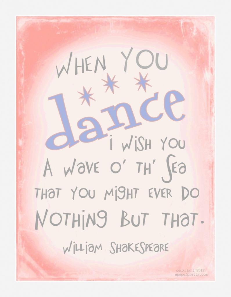 "Dance Recital Free Printable: ""when You Dance, I Wish You"" (From   Free Printable Dance Recital Cards"