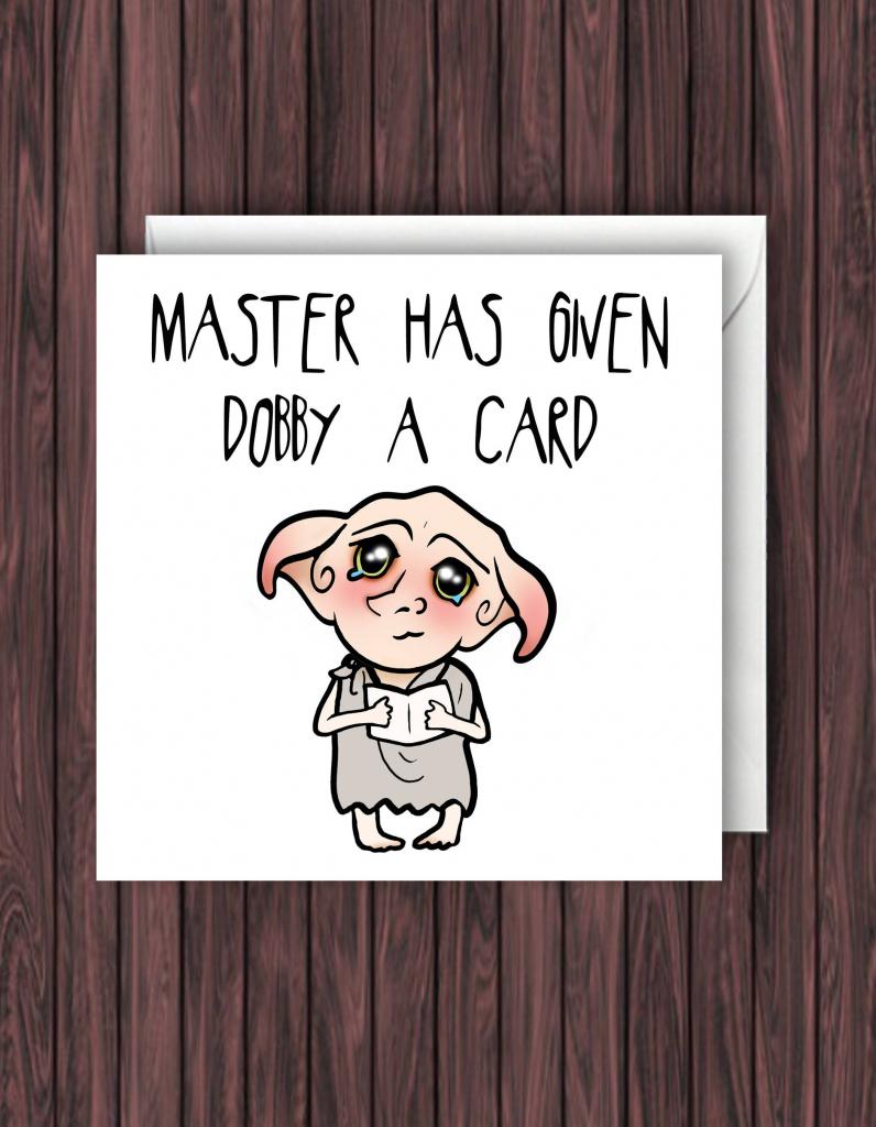 Debby Card. Harry Potter Birthday Card. Funny Greetings Card. Geek   Nerdy Birthday Cards Printable