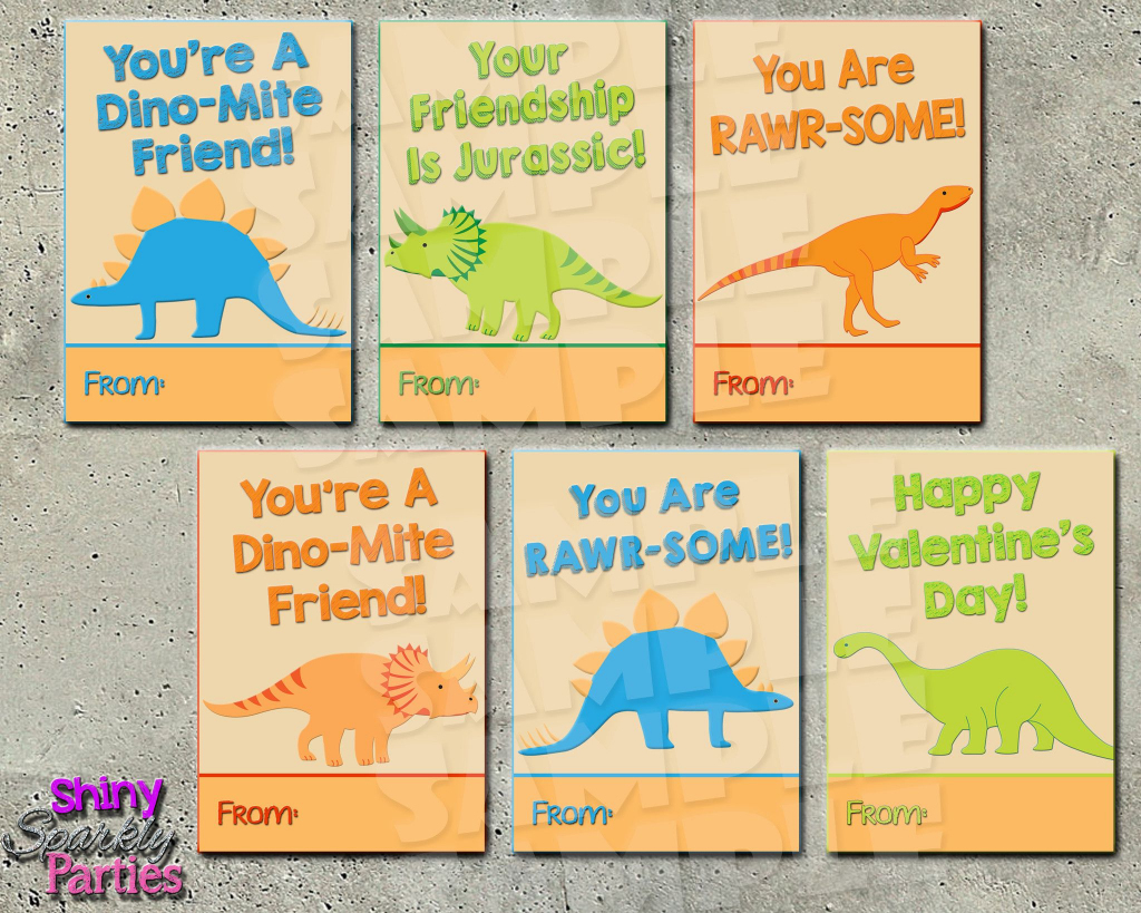 Dinosaur Valentine Cards Printable Instant Download In 2019 | Printable Dinosaur Valentine Cards