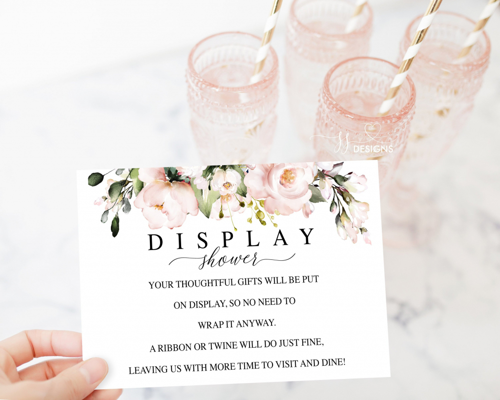 Display Shower Card Gifts On Display Printable Shower Card   Etsy   Printable Bridal Shower Card
