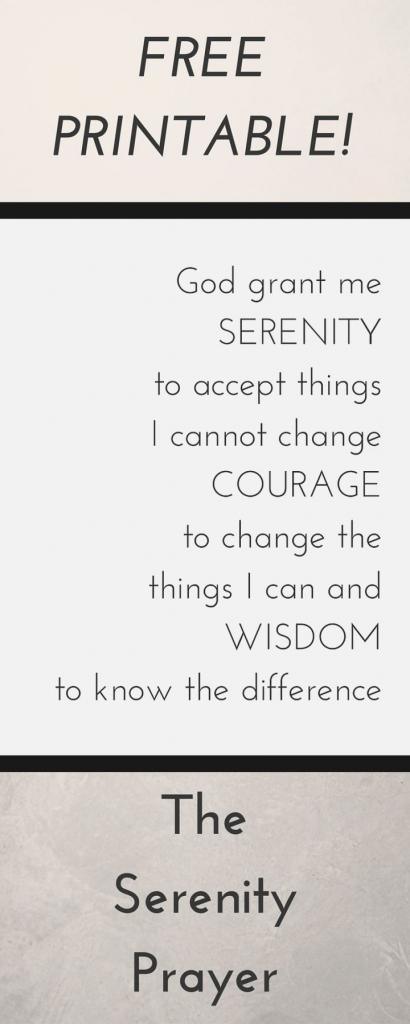Divine Printable Serenity Prayer | Shibata | Printable Serenity Prayer Cards