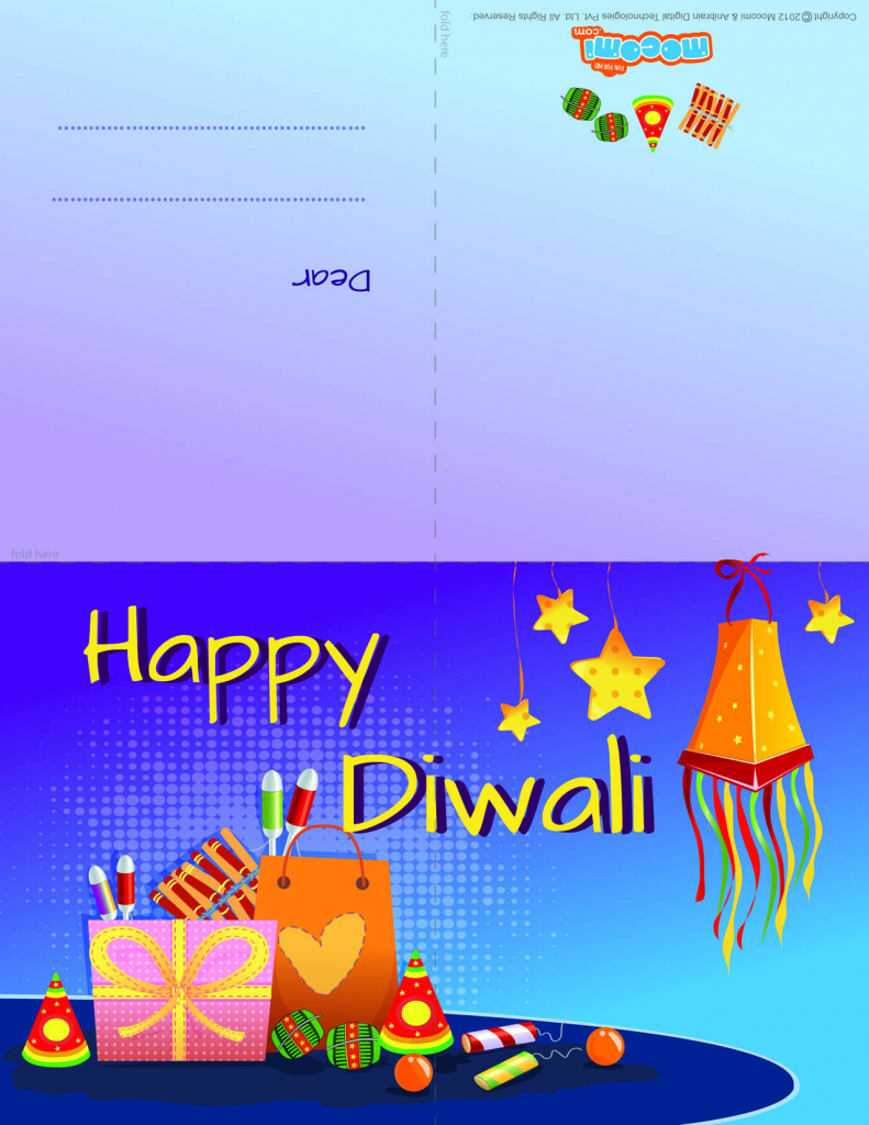 Diwali Firecrackers 2 - Diwali Greeting Card For Kids | Mocomi | Printable Diwali Greeting Cards