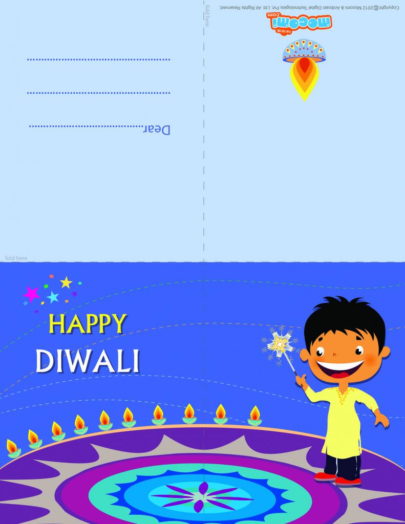 Diwali Rangoli - Diwali Greeting Card For Kids | Mocomi | Printable Diwali Greeting Cards