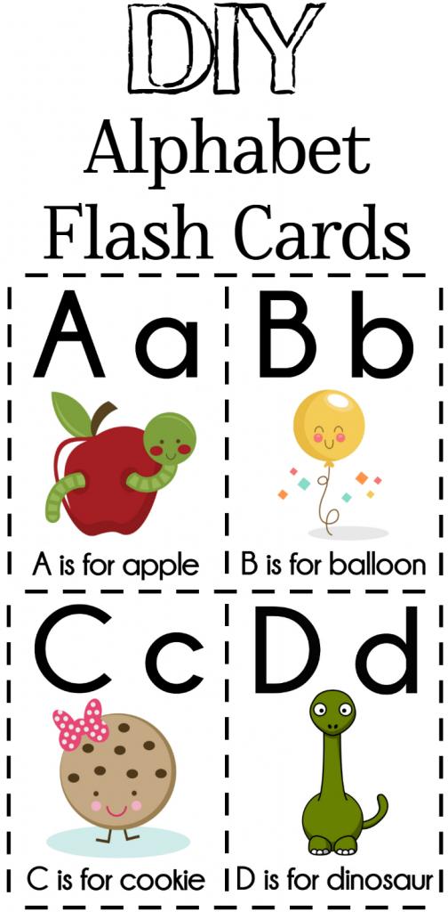 Diy Alphabet Flash Cards Free Printable | Alphabet Games | Free Printable Alphabet Cards With Pictures