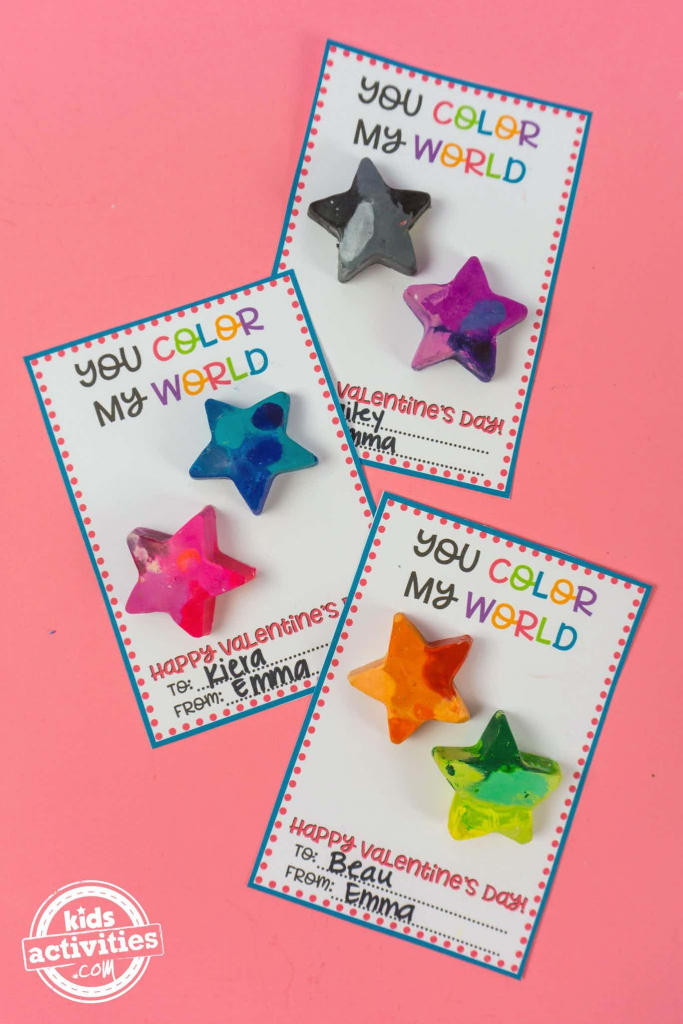 Diy Galaxy Crayon Valentines | 2Nd Grade | Valentines For Kids | Make Your Own Printable Valentines Card