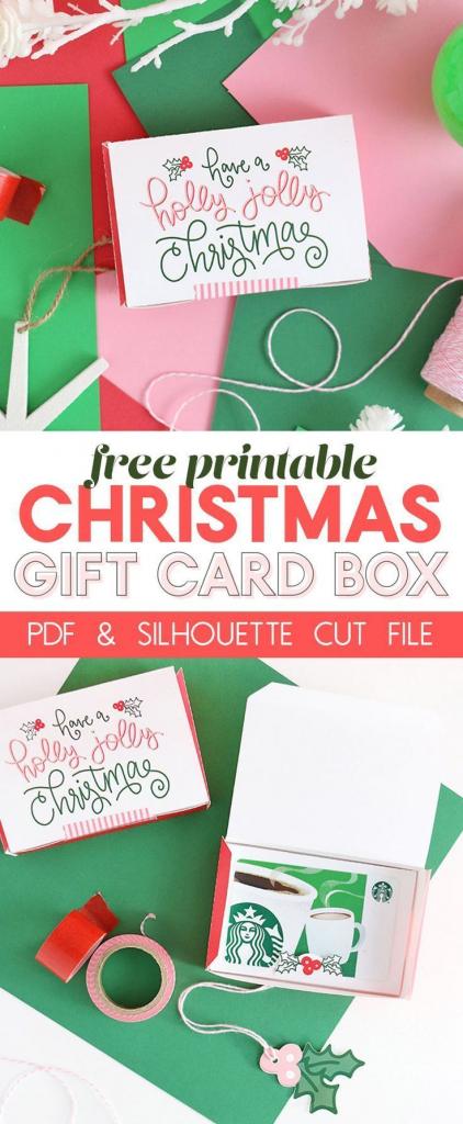 Diy Gift Card Box - Free Printable Gift Idea For Christmas | Craft | Free Printable Christmas Gift Cards