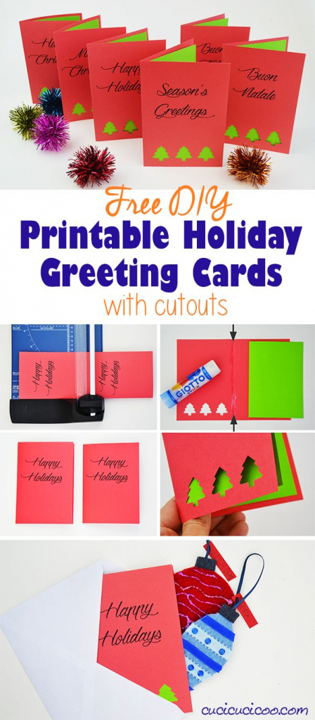 Diy Greetings: Free Printable Holiday Cards With Cutouts   Christmas Cards For Loved Ones Printables