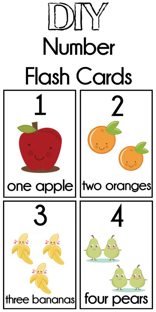 Diy Number Flash Cards Free Printable | Preschool | Preschool | Counting Flash Cards Printable