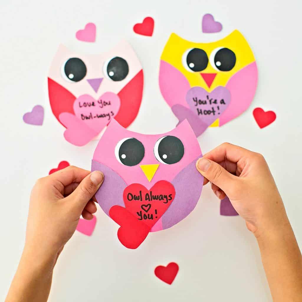 Diy Owl Valentine Card - Hello Wonderful | Free Printable Owl Valentine Cards