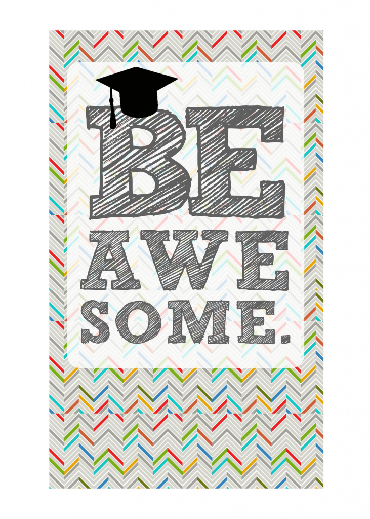 Diy Printable Graduation Cards–'omg' & 'be Awesome' | Cute Graduation Cards Printable