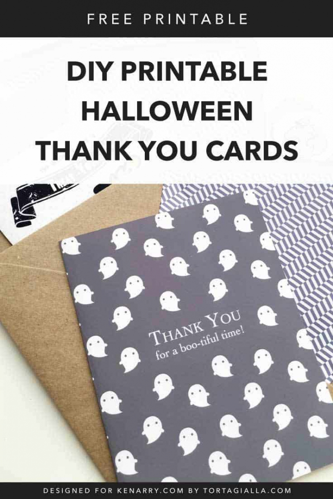 Diy Printable Halloween Cards | Ideas For The Home | Halloween Thank You Cards Printable
