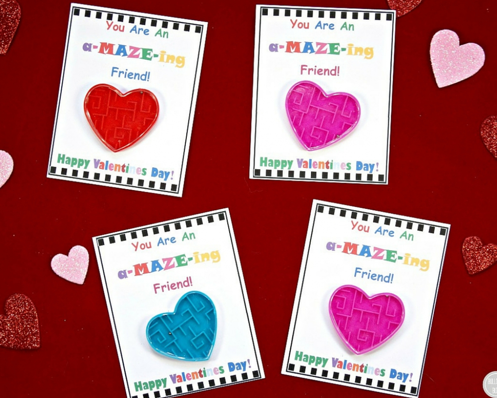 Diy Valentine's Day Cards For Kids With Free Printable! - Bullock's Buzz | Homemade Valentine Cards Printable