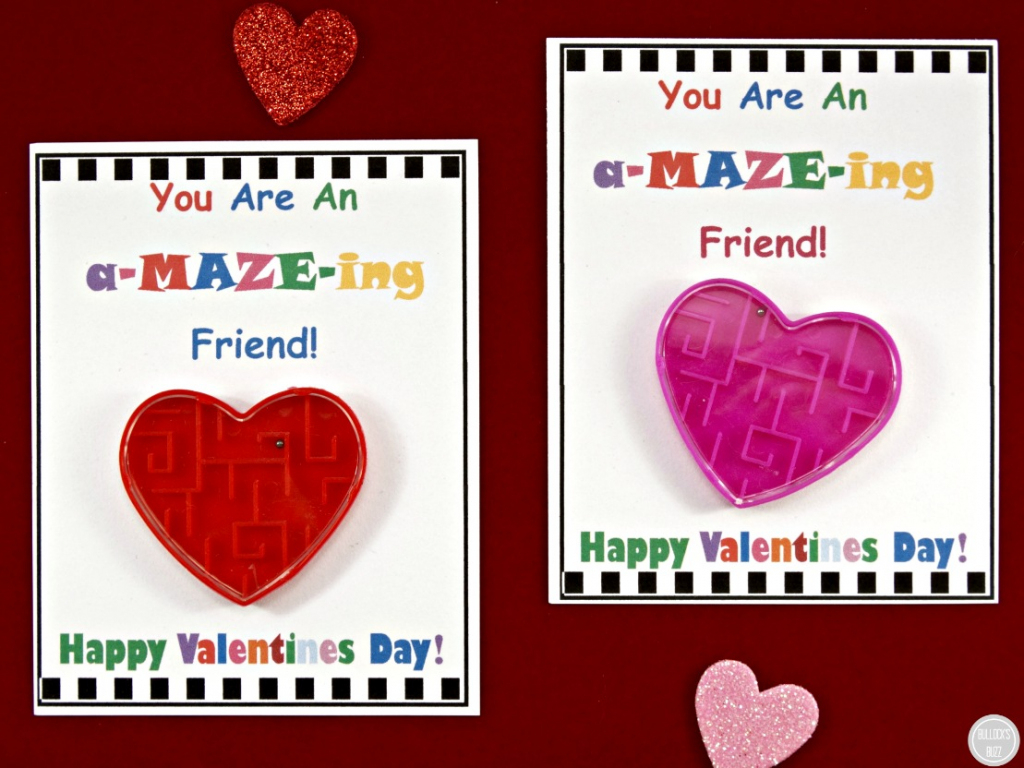 Diy Valentine's Day Cards For Kids With Free Printable! - Bullock's Buzz   Make Valentines Cards Printable