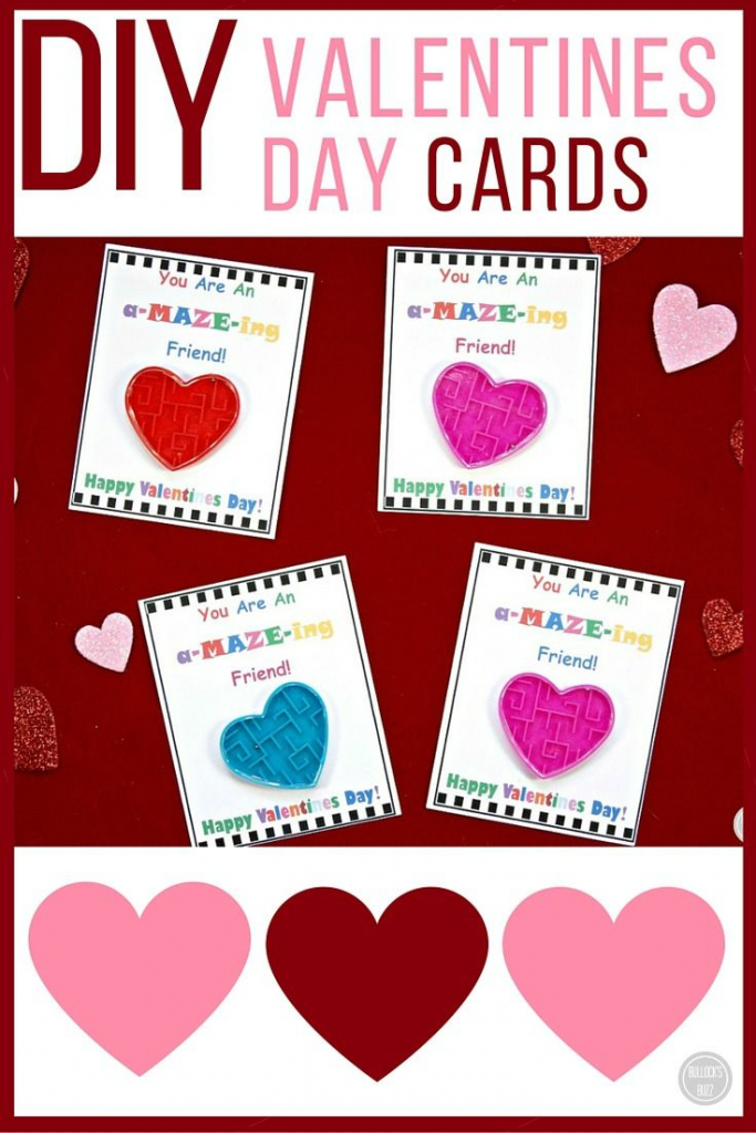 Diy Valentine's Day Cards For Kids With Free Printable | Free Printable Valentines Day Cards Kids