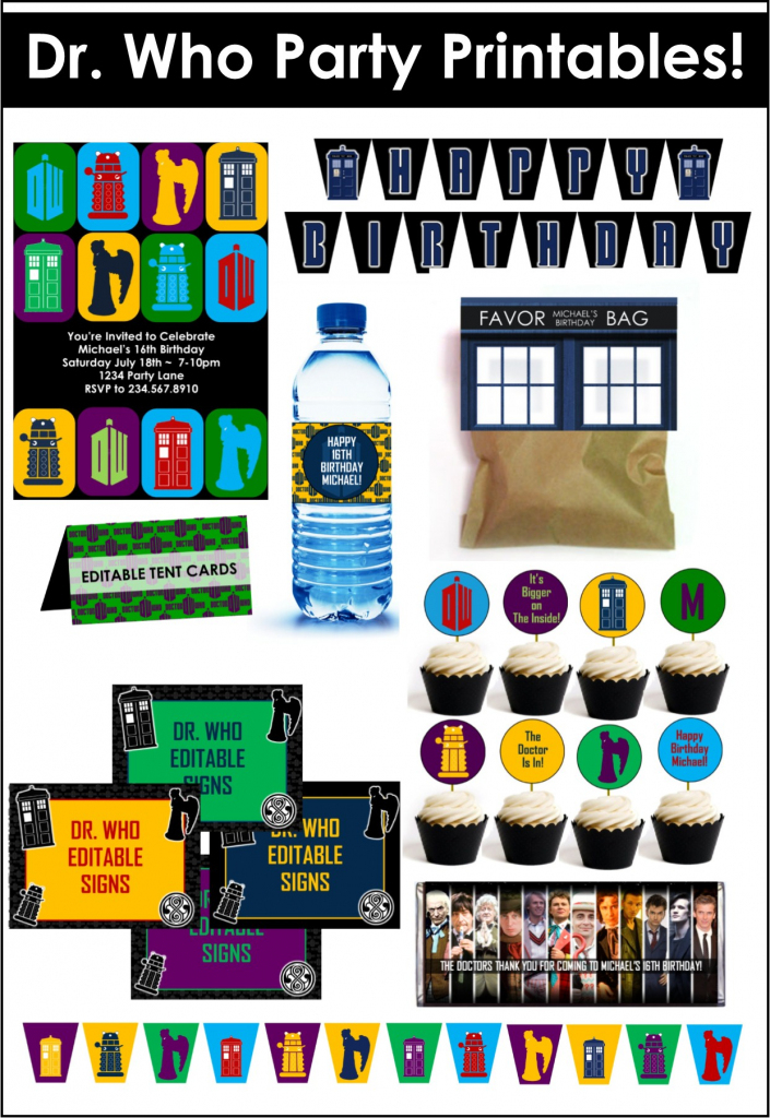 Doctor Who Party Game Ideas | Free Printable Dr Who Birthday Card